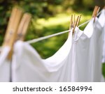 Stock photo whites hanging from a clothesline 16584994