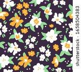 simple vintage pattern. dark... | Shutterstock .eps vector #1658504383