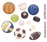 set of balls for different... | Shutterstock .eps vector #165851243