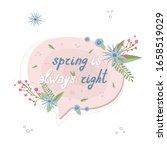 floral pink speech bubble...   Shutterstock .eps vector #1658519029