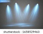 set of vector spotlights.... | Shutterstock .eps vector #1658529463