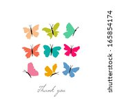 Stock vector color butterflies vector illustration 165854174