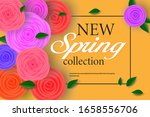 spring banner with paper... | Shutterstock .eps vector #1658556706