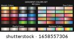 metal gradient color set  plus... | Shutterstock .eps vector #1658557306