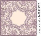 vector lace frame. romantic... | Shutterstock .eps vector #1658565820