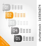 five orange stickers.... | Shutterstock .eps vector #165856874