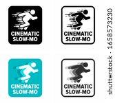 """cinematic slow mo"" effect ... | Shutterstock .eps vector #1658573230"