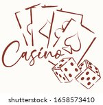 casino  banner with dice and... | Shutterstock .eps vector #1658573410