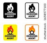 "beware ""oxidizing agent""... | Shutterstock .eps vector #1658577103"