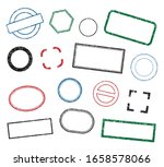 stamp frame vector set. grunge... | Shutterstock .eps vector #1658578066