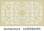 decorative monochrome ornate... | Shutterstock .eps vector #1658586490