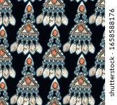 vector ethnic vintage jewelry... | Shutterstock .eps vector #1658588176
