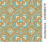 vector ethnic vintage jewelry... | Shutterstock .eps vector #1658588179