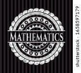 mathematics silver shiny emblem ... | Shutterstock .eps vector #1658597179