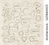 sketchy speech bubbles in...   Shutterstock .eps vector #165860423