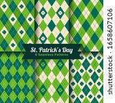 st. patrick's day seamless... | Shutterstock .eps vector #1658607106
