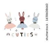 Cute Cartoon Bunny Girls...