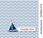 thank you greeting card with... | Shutterstock .eps vector #165861176