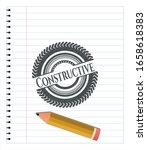 constructive emblem with pencil ... | Shutterstock .eps vector #1658618383