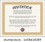orange vintage invitation.... | Shutterstock .eps vector #1658618389
