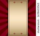 vintage frame on red decorative ... | Shutterstock .eps vector #1658633563