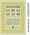 yellow retro vintage invitation.... | Shutterstock .eps vector #1658635390