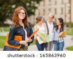 summer holidays  education ... | Shutterstock . vector #165863960