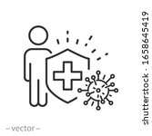 human immune from flu germ icon ... | Shutterstock .eps vector #1658645419