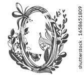 vector illustration with bird... | Shutterstock .eps vector #1658651809