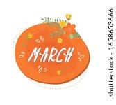 floral spring speech bubble...   Shutterstock .eps vector #1658653666