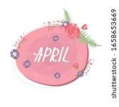 floral spring speech bubble...   Shutterstock .eps vector #1658653669