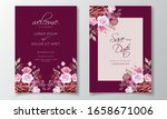 romantic maroon wedding...   Shutterstock .eps vector #1658671006