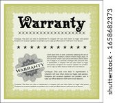 yellow vintage warranty... | Shutterstock .eps vector #1658682373