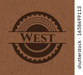 west wood emblem. vintage.... | Shutterstock .eps vector #1658699113