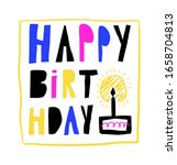 hand drawn happy birthday... | Shutterstock .eps vector #1658704813