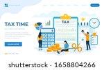 concept tax payment. data... | Shutterstock .eps vector #1658804266