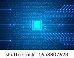 microchip technology background ...   Shutterstock .eps vector #1658807623