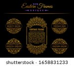 vintage golden vector set.... | Shutterstock .eps vector #1658831233