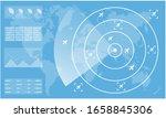 blue radar monitor. air traffic ... | Shutterstock .eps vector #1658845306