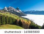 fog surrounding the mythen... | Shutterstock . vector #165885800