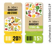 food products vertical banners... | Shutterstock .eps vector #1658864119