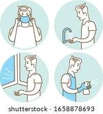 coronavirus covid 19 prevention ...   Shutterstock .eps vector #1658878693