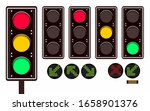 set of traffic lights with... | Shutterstock .eps vector #1658901376