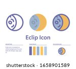 eclipse icon in isolated on...