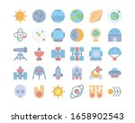 set universe icon flat style in ...