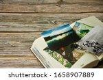 Photo Album And Strewn Colorful ...