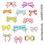 bows collection | Shutterstock .eps vector #165891509