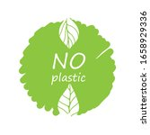 plastic free product sign for... | Shutterstock .eps vector #1658929336