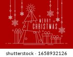 happy christmas banner of white ... | Shutterstock .eps vector #1658932126