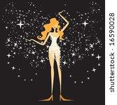 beautiful woman  celebration | Shutterstock .eps vector #16590028